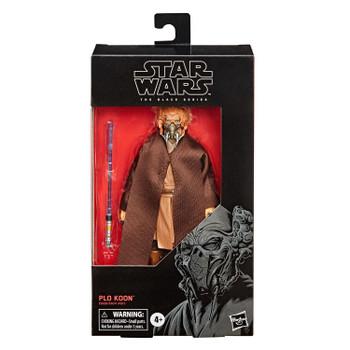 Star Wars The Black Series 6-Inch PLO KOON Action Figure in packaging.