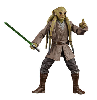 The 6-inch scale Black Series Kit Fisto action figure is detailed to look like the character from Star Wars: The Clone Wars, featuring premium detail and multiple points of articulation.