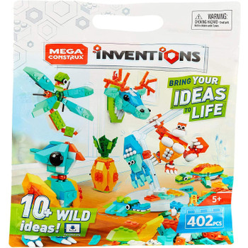 Bring your ideas to life and take your inventions to the next level with this awesome and huge 402-piece Wild building set!