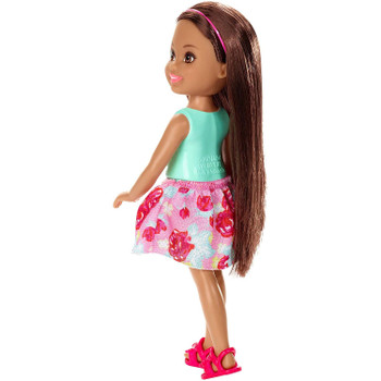 Features 5 points of articulation and long brown hair