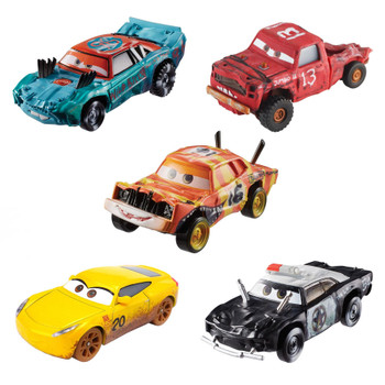 5-Pack of 1:55 scale Disney Pixar Cars die-cast vehicles from the Thunder Hollow movie scene