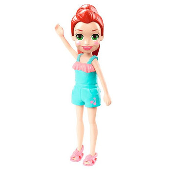 Lila doll's removable outfit includes green romper suit and pink sandals.