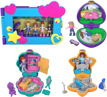 The Go Tiny! Pocket World Value Pack includes 4 Polly Pocket™ playsets!