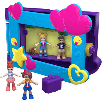 The Polly Pocket™ Say Freeze!™ Picture Frame lets you take the party fun with you wherever you go!