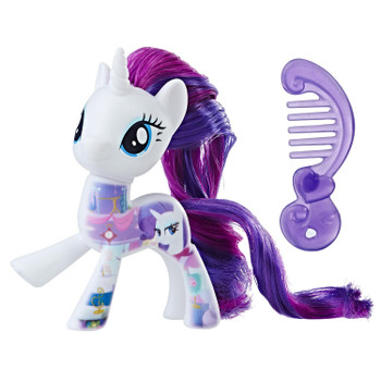 Inspired by My Little Pony: The Movie, this 3-inch Rarity figure has a design printed on her to resemble her boutique in Equestria.