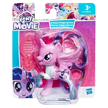 Twilight Sparkle has beautiful hair and comes with a comb accessory.