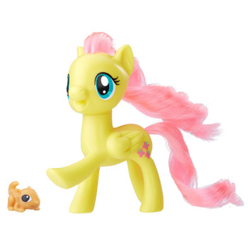 Inspired by entertainment, this My Little Pony 3-inch Fluttershy figure has a fresh look.
