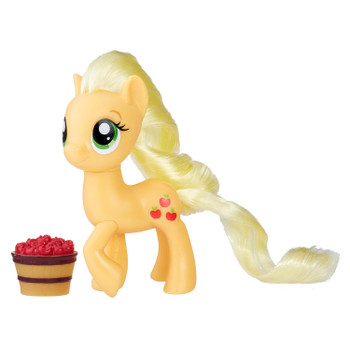 Inspired by entertainment, this My Little Pony 3-inch Applejack figure has a fresh look.