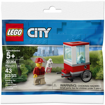 LEGO City 30364: Popcorn Cart in packaging.