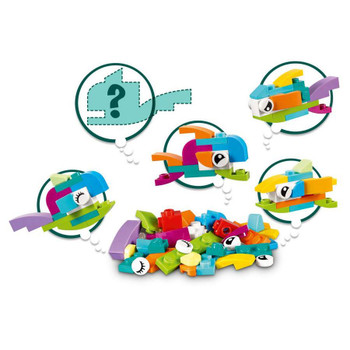 Build colorful fish just like you'd find in a fish tank, and then see how many other fish you can create with this fun collection of LEGO bricks and inspirational images.