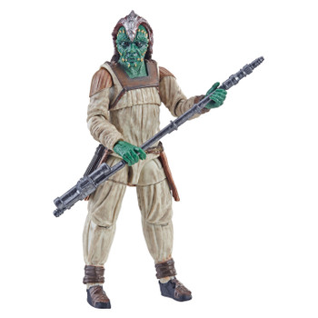 Star Wars The Vintage Collection 3.75-inch-scale Klaatu (Skiff Guard) figure features premium deco across multiple points of articulation and design inspired by Star Wars: Return of the Jedi.