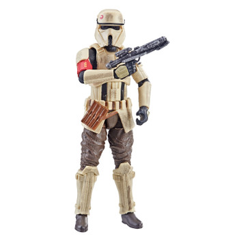 Star Wars The Vintage Collection 3.75-inch-scale Scarif Stormtrooper figure features premium deco across multiple points of articulation and design inspired by Rogue One: A Star Wars Story.