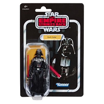 Star Wars The Vintage Collection Star Wars: The Empire Strikes Back Darth Vader 3.75-inch Figure features vintage-inspired packaging with original Kenner branding!