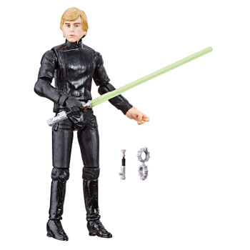 Star Wars The Vintage Collection 3.75-inch-scale Luke Skywalker (Endor) figure that features premium deco across multiple points of articulation and design inspired by the Star Wars: Return of the Jedi movie.