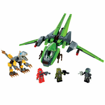 KRE-O Transformers LOCKDOWN AIR RAID Building Toy includes 203 pieces, 3 KREON figures, and instructions.