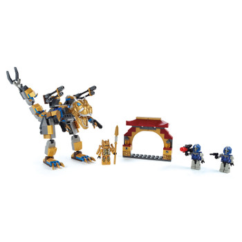 Kre-O Transformers: Age of Extinction GRIMLOCK STREET ATTACK Building Toy includes 196 pieces, 3 KREON figures, and instructions.