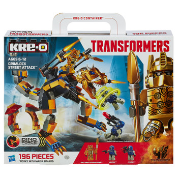 Kre-O Transformers: Age of Extinction GRIMLOCK STREET ATTACK Construction Set in packaging.