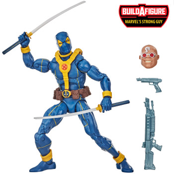 Marvel Legends Series Deadpool Collection 6-Inch DEADPOOL Action Figure comes with 4 accessories, and Build-A-Figure part.