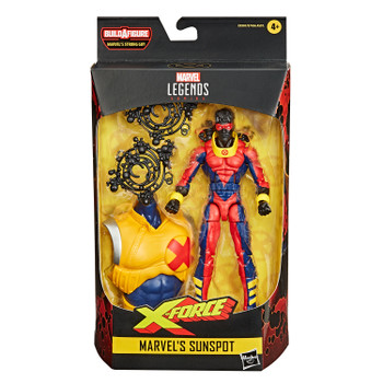 Marvel Legends Series Deadpool Collection 6-Inch MARVEL'S SUNSPOT Action Figure in packaging.