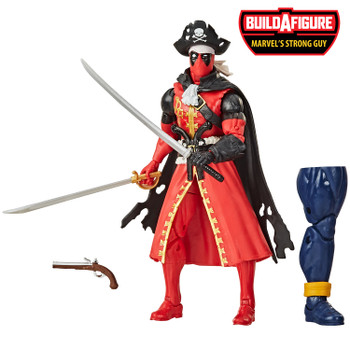 Marvel Legends Series Deadpool Collection 6-Inch PIRATE DEADPOOL Action Figure comes with 3 accessories and Build-A-Figure piece.
