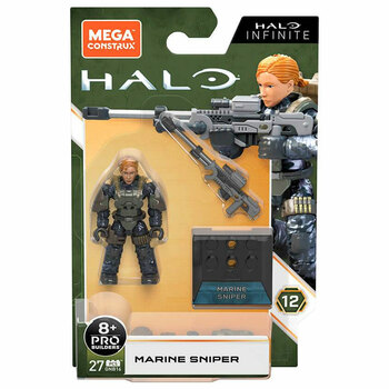 Mega Construx Halo Infinite Heroes MARINE SNIPER Micro Action Figure