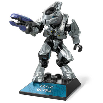Buildable Halo Infinite inspired Elite Ultra micro action figure with deluxe decoration.