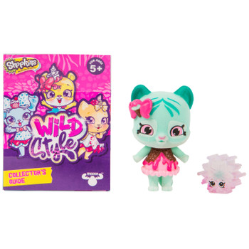 Includes 2.5 inch (6.5 cm) flocked Minty Paws Shoppet, 1 inch (2.5 cm) Crystal Snowflake Shopkin, Shoppet Stand, and Collector's Guide.