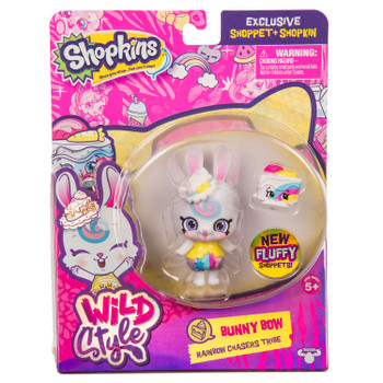 Shopkins Wild Style BUNNY BOW Exclusive Shoppet & Shopkin in packaging.