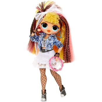 Pop B.B. is just a pop star fashionista, who loves to create unique fashion combos, like her cute denim jacket mixed with her frilly lace skirt. She has stunning features, beautiful, styled hair, and her own 80s-inspired style.