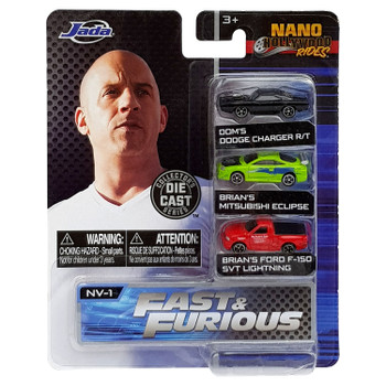 Each approximately 1.65 inch (4.2 cm) long vehicle features die-cast body and rolling wheels.