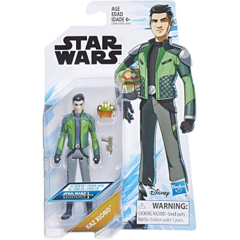 Star Wars: Resistance KAZ XIONO 3.75-Inch Action Figure in packaging.