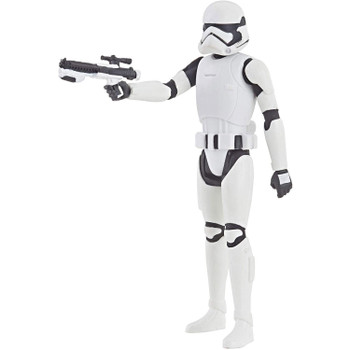 Inspired by the animated series Star Wars: Resistance, this 3.75-inch-scale First Order Stormtrooper action figure features 5 points of articulation and comes with blaster rifle accessory.