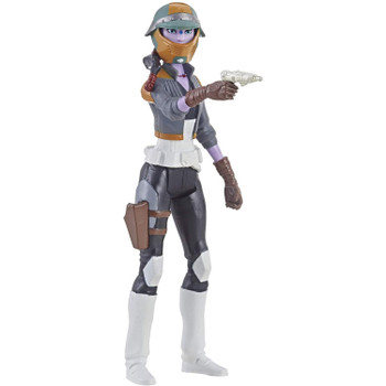 Inspired by the animated series Star Wars: Resistance, this 3.75-inch-scale Synara San action figure features 5 points of articulation and comes with blaster pistol and removable helmet.