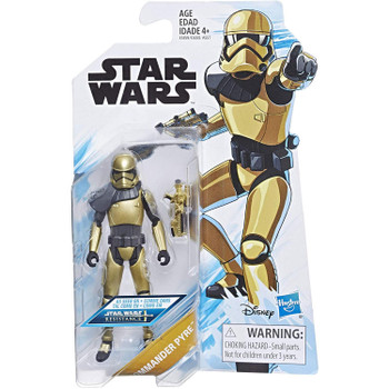 Star Wars: Resistance COMMANDER PYRE 3.75-Inch Action Figure in packaging.
