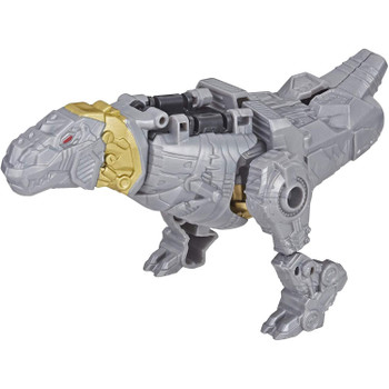 Transformers Authentics Grimlock features easy conversion from robot mode to Dinobot alt mode in 8 steps.