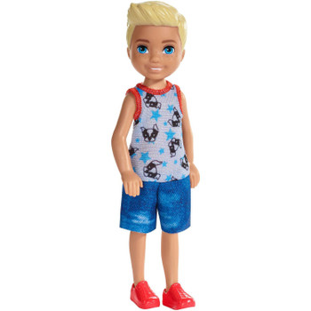 This 5.5-inch (14 cm) doll celebrates his favourite animal -- he wears a romper decorated with a puppy dog's face and blue stars!