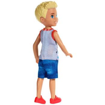 Barbie Club Chelsea - Blonde Boy Doll wearing Puppy Dog Top
