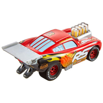 Lightning McQueen features his signature vibrant red deco and racing number 95.