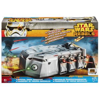 Star Wars Rebels Imperial Troop Transport Vehicle in packaging.