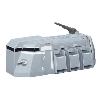 Imperial Troop Transports deploy Stormtoopers into battle and are equipped with heavy armour and powerful laser cannons to eliminate any Rebel threat.