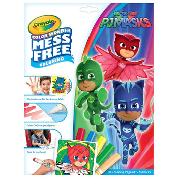 Color Wonder Set: Contains 18 PJ Masks Colouring Pages and 5 Color Wonder Markers.