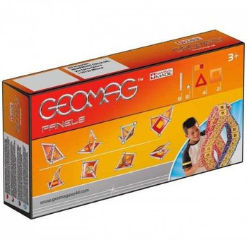 This set contains 8 non-magnetic spheres, 8 magnetic rods, 4 triangles and 2 squares.