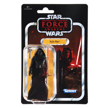 Star Wars The Vintage Collection VC117 KYLO REN 3.75-inch Figure in European packaging from the front.