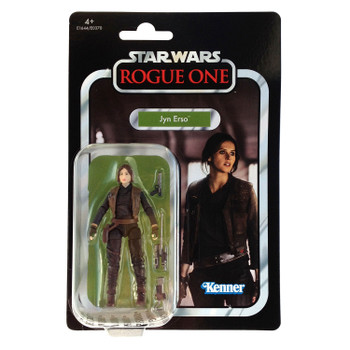 Star Wars The Vintage Collection VC119 JYN ERSO 3.75-inch Figure in European packaging from the front.