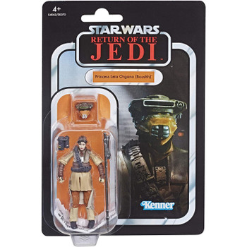 Star Wars The Vintage Collection VC134 PRINCESS LEIA ORGANA (BOUSHH) 3.75-inch Figure in European packaging from the front.