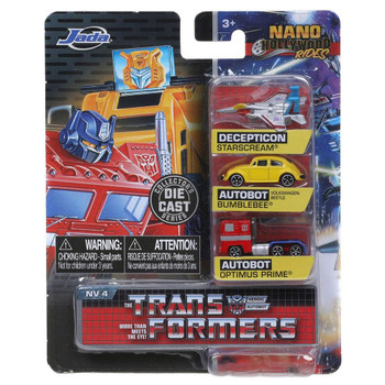 Nano Hollywood Rides Transformers 3-Pack (NV-4) in packaging.