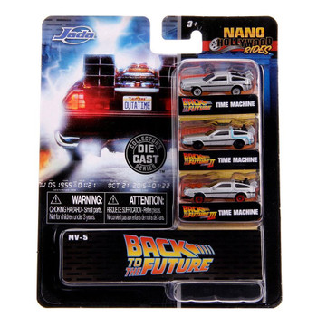 Nano Hollywood Rides Back to the Future 3-Pack (NV-5) in packaging.