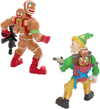 Fortnite Battle Royale Collection Duo Pack: Codename E.L.F. & Merry Marauder Figures.
