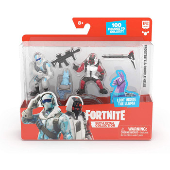 Fortnite Battle Royale Collection Duo Pack: Frostbite & Double Helix Figures in packaging.