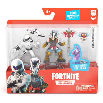 Fortnite Battle Royale Collection Duo Pack: Overtaker & Taro Figures in packaging.